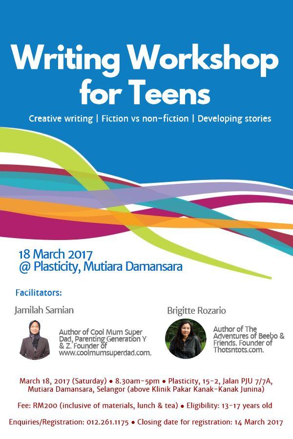 Writing Workshop for Teens Poster v4